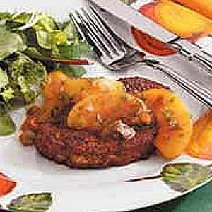 Pork Chops With Nectarine Salsa Recipe