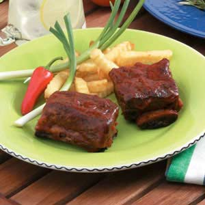 Sweet and Spicy Barbecued Short Ribs