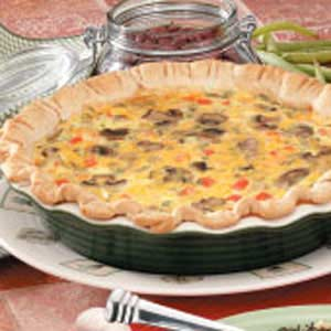 Quiche with Mushrooms Recipe