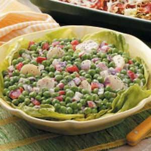 Light and Crunchy Pea Salad Recipe