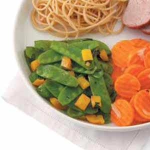 Lemon-Basil Snow Peas Recipe
