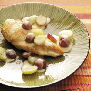Dijon Chicken with Grapes Recipe
