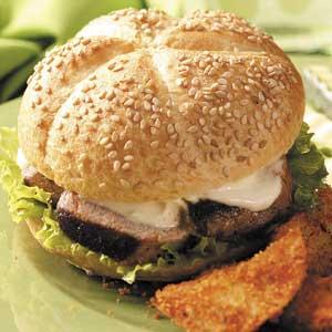 Grilled Pork Tenderloin Sandwiches Recipe