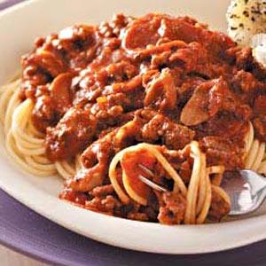 Two-Meat Spaghetti Sauce Recipe