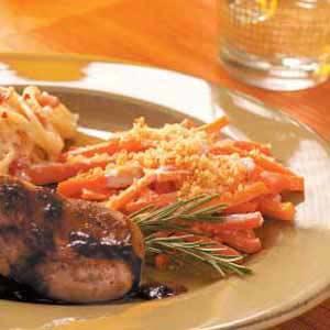 Baked Horseradish Carrots Recipe