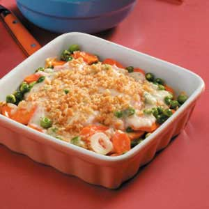 Carrot Coin Casserole with Cheddar Recipe