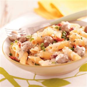 Mushroom Pasta Carbonara Recipe