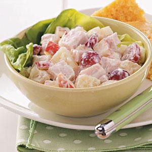 Creamy Fruited Turkey Salad Recipe