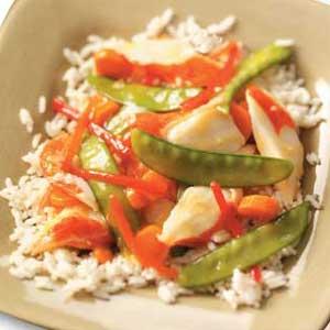 Colorful Crab Stir-Fry Recipe