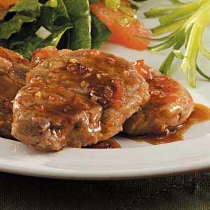 Glazed Pork Medallions Recipe