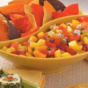 Fresh Peach Mango Salsa