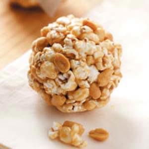 Peanutty Popcorn Balls Recipe