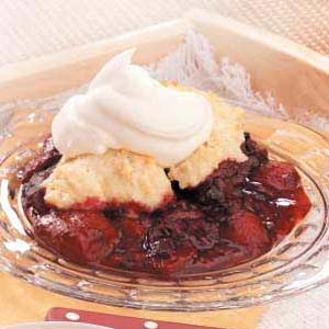 Three-Berry Cobbler Recipe