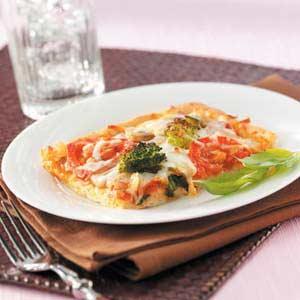Cheesy Vegetable Pizza