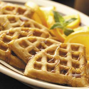 Orange Pecan  Waffles Recipe