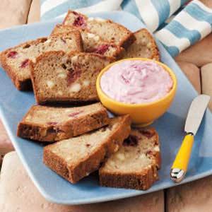 Berry Bread with Spread Recipe