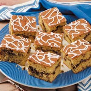 Glazed Cinnamon-Nut Coffee Cake Recipe