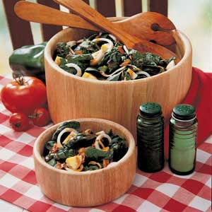 Crunchy Spinach Salad Recipe