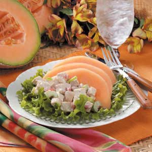 Cantaloupe Chicken Salad for Four Recipe
