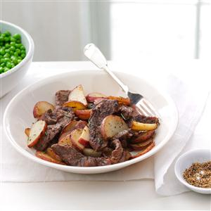 Skillet Beef and Potatoes Recipe
