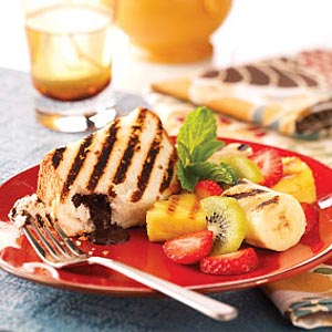 Grilled Cake and Fruit Recipe