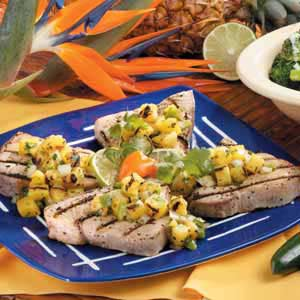 Grilled Tuna with Pineapple Salsa Recipe