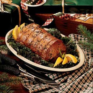 Baked Herb Pork Roast Recipe