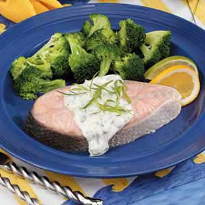 Poached Salmon with Tarragon Sauce Recipe