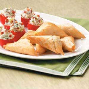 Spinach Phyllo Triangles Recipe