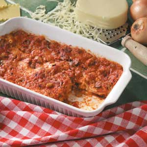 Shortcut Sausage Lasagna Recipe