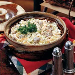 Sausage 'n' Noodle Dinner Recipe