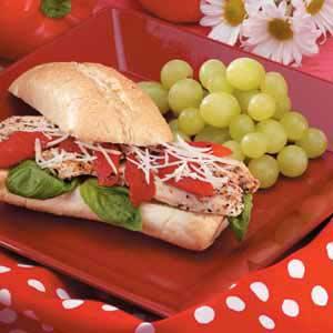Basil Chicken Sandwiches Recipe