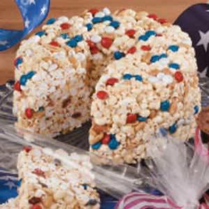 Patriotic Popcorn Cake Recipe