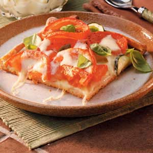 Rustic Vegetarian Pizza Recipe