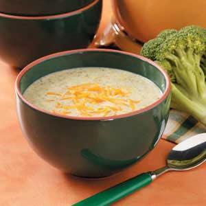 Cream of Broccoli Cheese Soup Recipe