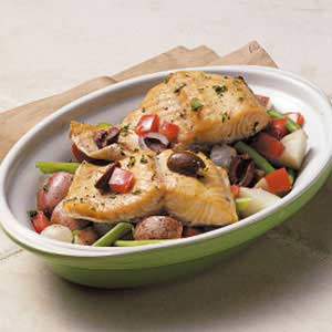 Vegetable Trout Bake