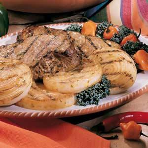 Mustard Grilled Steaks Recipe