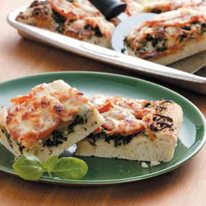Tomato Spinach Pizza Recipe
