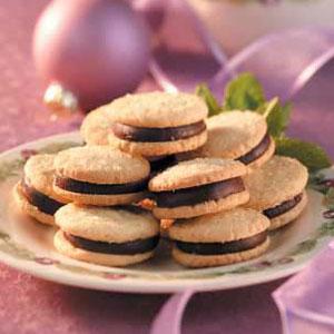 Mint Sandwich Sugar Cookies Recipe