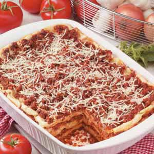 Makeover Lasagna with Two Sauces Recipe