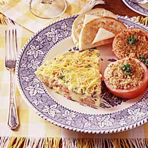 Ham and Cheese Frittata Recipe