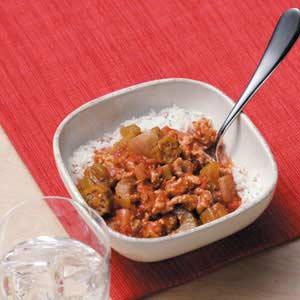 Ground chicken gumbo recipe taste of home ground chicken gumbo recipe forumfinder Gallery