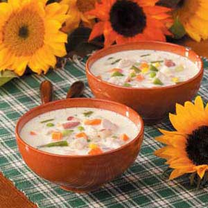 Creamy Turkey Vegetable Soup Recipe