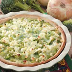 Caramelized Onion Broccoli Quiche Recipe