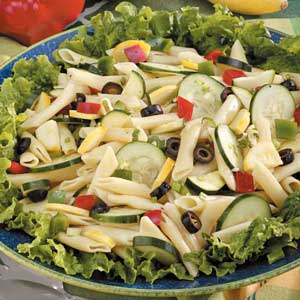Mostaccioli Veggie Salad Recipe