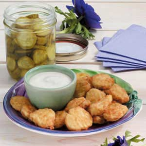 Fried Dill Pickle Coins Recipe