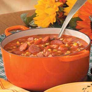 Autumn Sausage Corn Soup Recipe