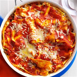 Saucy Skillet Lasagna Recipe