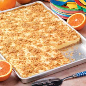 Orange Cream Freezer Dessert Recipe
