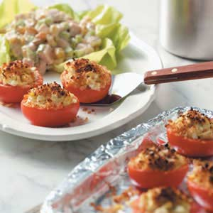 Broiled Tomatoes with Artichokes Recipe